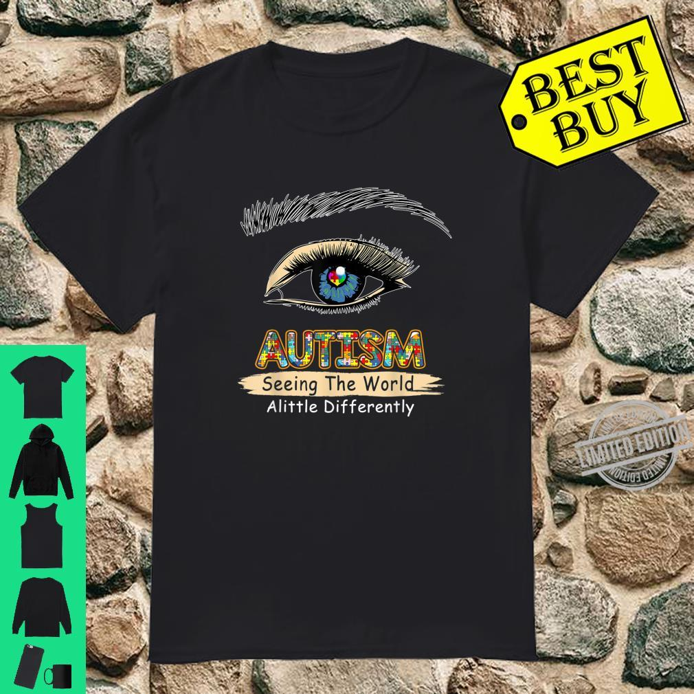 Seeing Embrace Differently Autism Awareness Support Puzzles Shirt