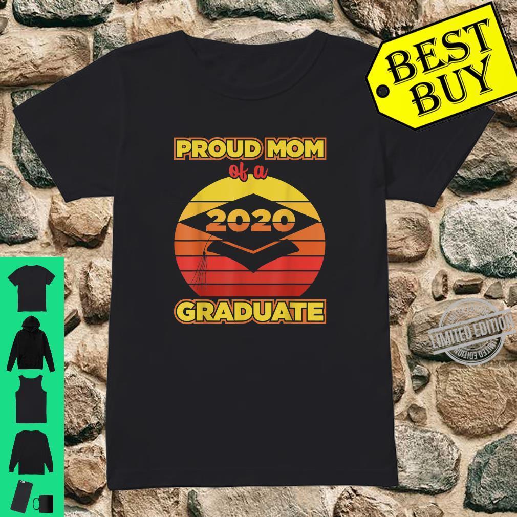 Senior 2020 Proud Mom Of A Graduate Vintage Sunset Shirt ladies tee