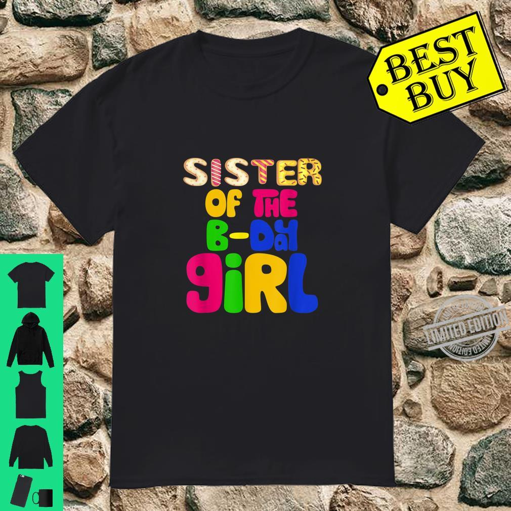 Sister of Bday Girl Birthday Party Donut Outfit Shirt