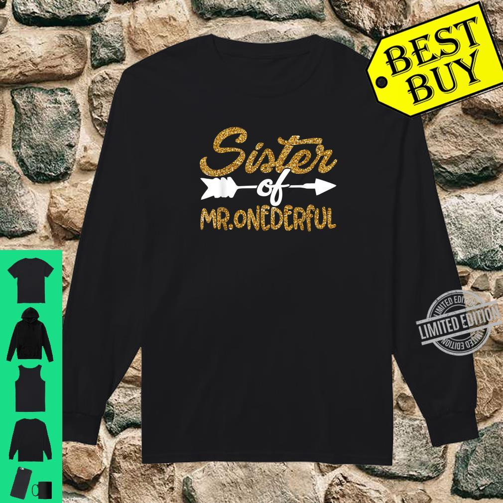 Sister of Mr Onederful 1st First Birthday Matching Outfits Shirt long sleeved