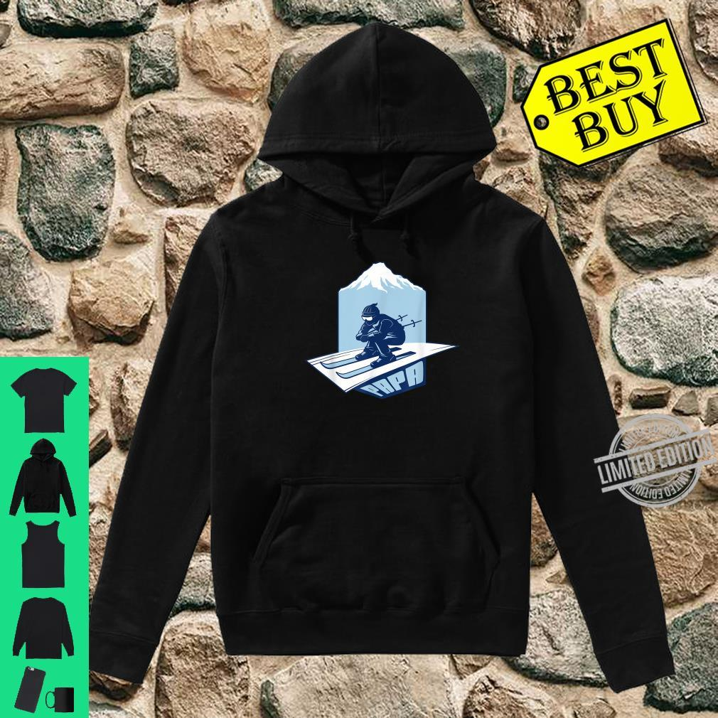 Ski Papa For Skier Dad Grandpa Skiing Shirt hoodie