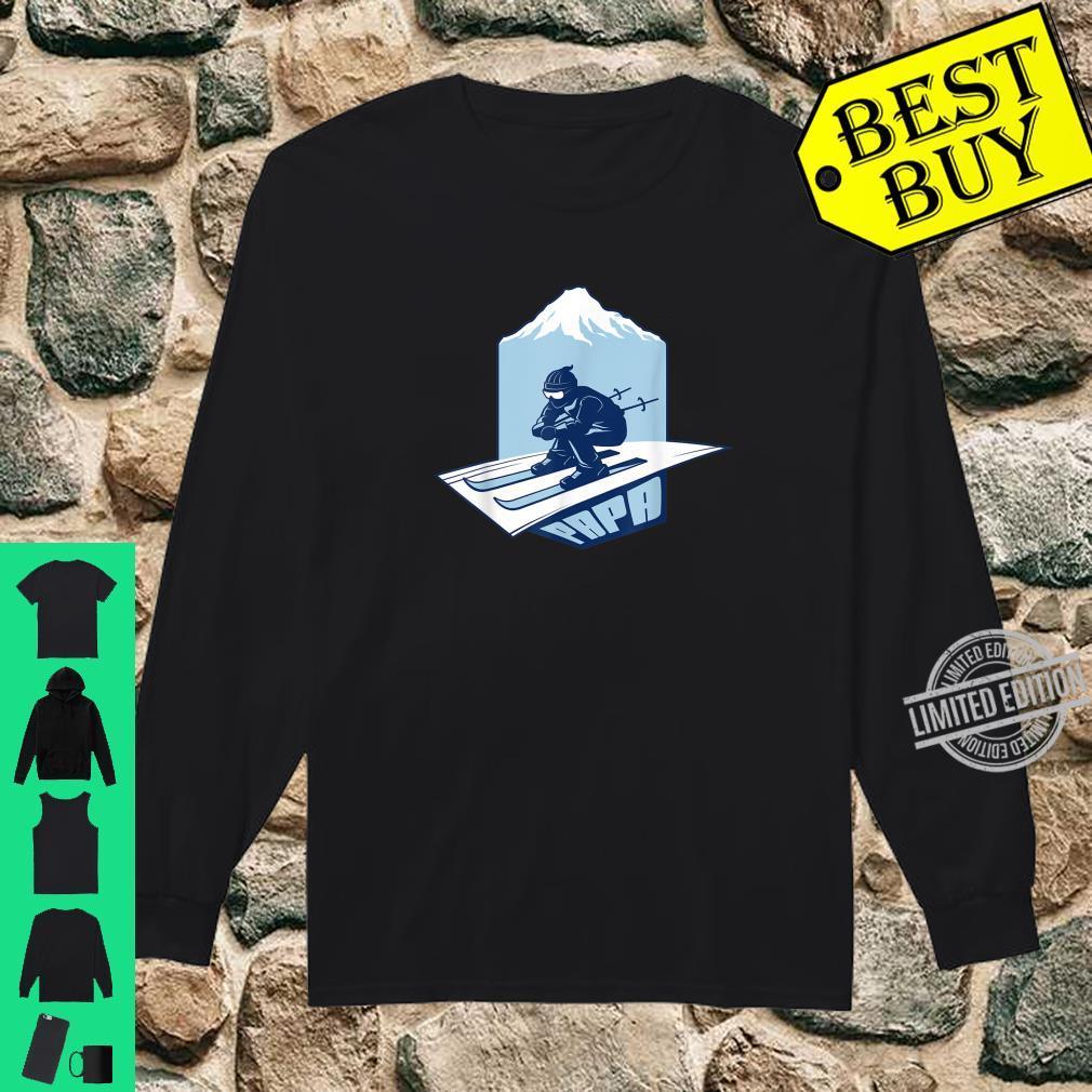 Ski Papa For Skier Dad Grandpa Skiing Shirt long sleeved