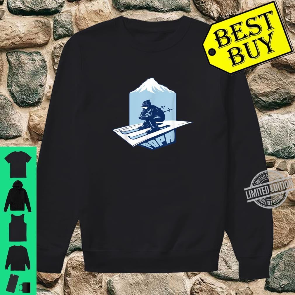 Ski Papa For Skier Dad Grandpa Skiing Shirt sweater
