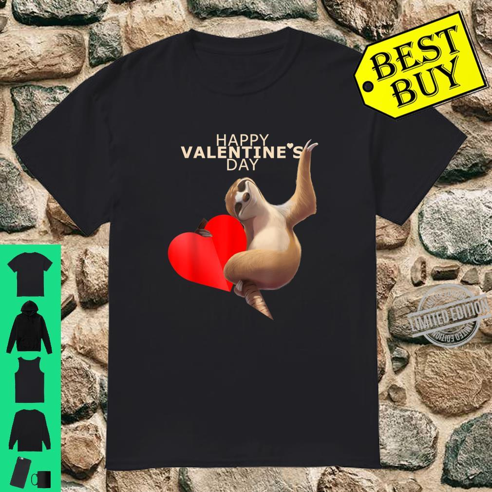 Sloth Holding Heart, Cute Happy Valentines Day Shirt