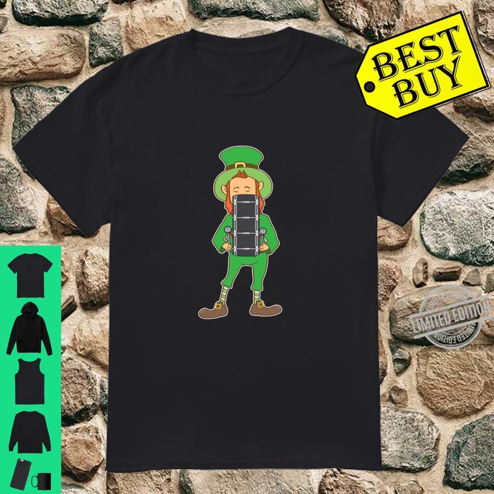St Patrick's Day Irish Leprechaun Playing Bass Drum Shirt Shirt
