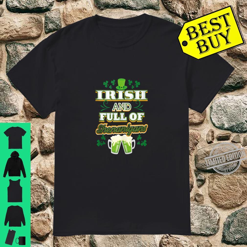St Patricks Day Shirt Irish Pub Shenanigans Green Beer Shirt