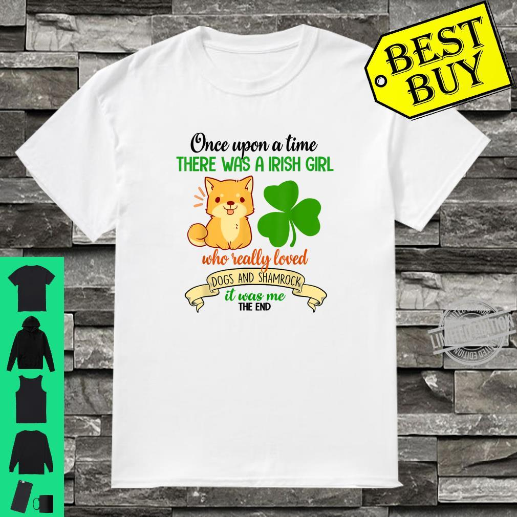 There Was A Irish Girl Who Really Loved Dogs And Shamrock Shirt