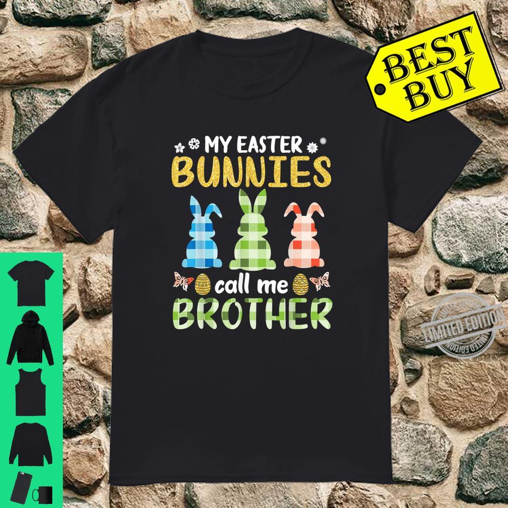 Vintage Retro Bunnies Eggs My Easter Bunnies Call Me Brother Shirt
