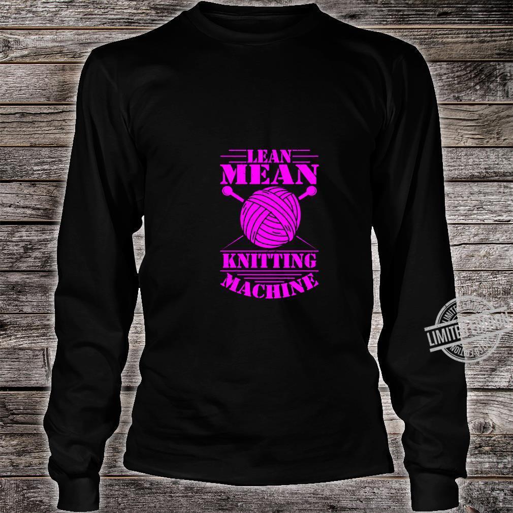 Womens Knitting Print Knitter Knitting Machine Crochet Shirt long sleeved