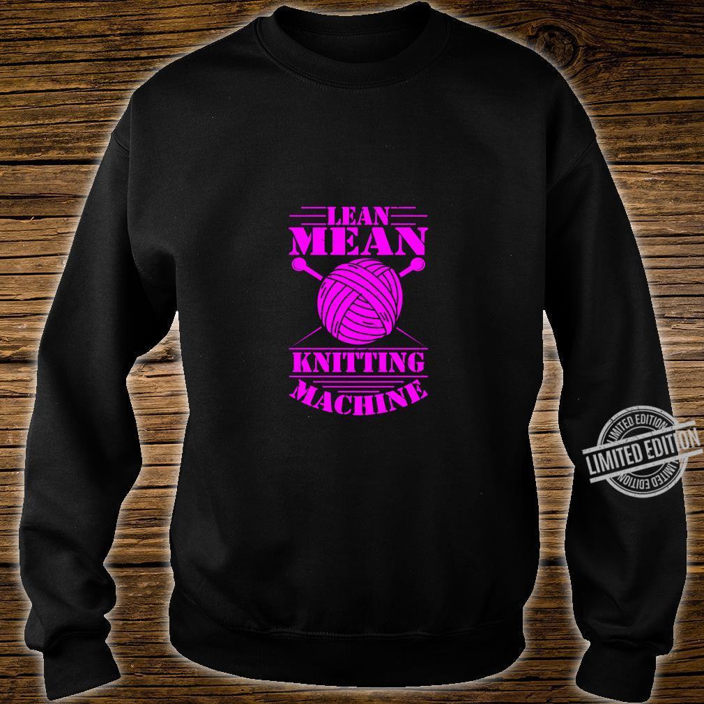 Womens Knitting Print Knitter Knitting Machine Crochet Shirt sweater